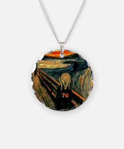 Scream 70th Necklace Circle Charm