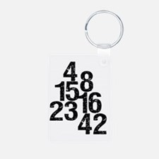 Eroded LOST Numbers Keychains