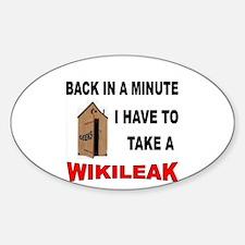 ANTI-AMERICAN GEEK Sticker (Oval 10 pk)