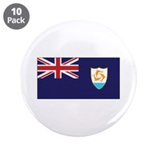 "Anguilla Flag 3.5"" Button (10 pack)"