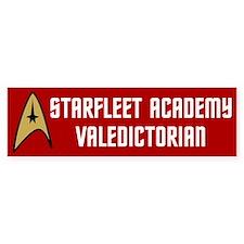 Starfleet Valedictorian (red) Car Sticker