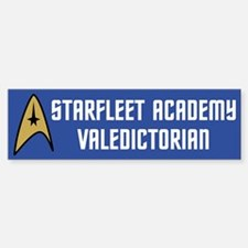 Starfleet Valedictorian (blue) Bumper Bumper Sticker