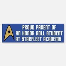 Proud Parent (blue) Bumper Bumper Sticker