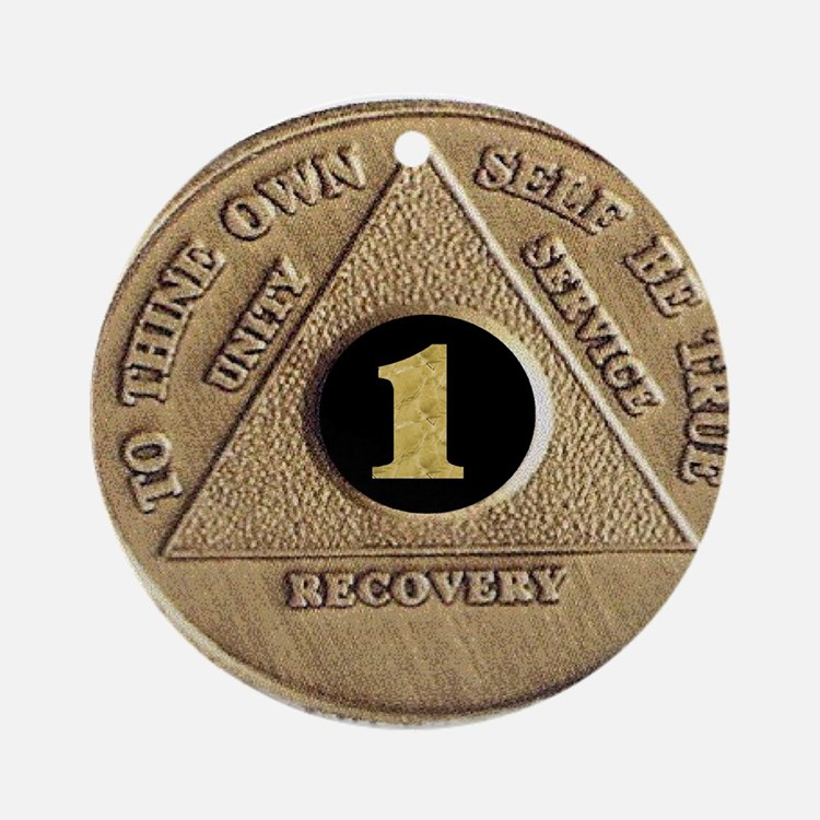 1 YEAR COIN Ornament (Round)