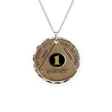 1 YEAR COIN Necklace Circle Charm