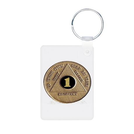 1 YEAR COIN Aluminum Photo Keychain