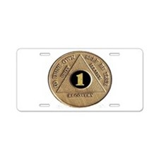 1 YEAR COIN Aluminum License Plate