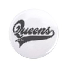 "QUEENS NEW YORK 3.5"" Button"