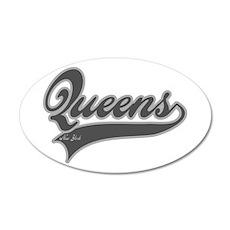 QUEENS NEW YORK 22x14 Oval Wall Peel