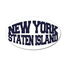 NEW YORK STATEN ISLAND 22x14 Oval Wall Peel