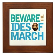 Ides Of March Shakespeare Quote Framed Tile