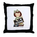 Best Teacher Gift 1st Grade Throw Pillow