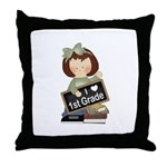 Best Teacher Gift 1st Grade Throw Pillow