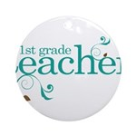 Present Teacher 1st Grade Ornament (Round)