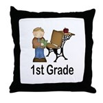 1st Grade Teacher Present Teacher Throw Pillow