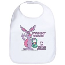 Loveable Easter Wabbit! Bib
