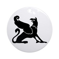 Larged Winged Griffin Ornament (Round)