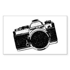 Distressed SLR Camera Decal