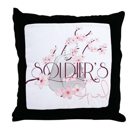 Soldier's Girl (Spring) Throw Pillow