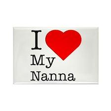 I Love My Nanna Rectangle Magnet