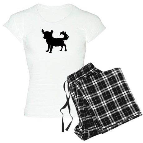 Chihuahua Silhouette Women's Light Pajamas
