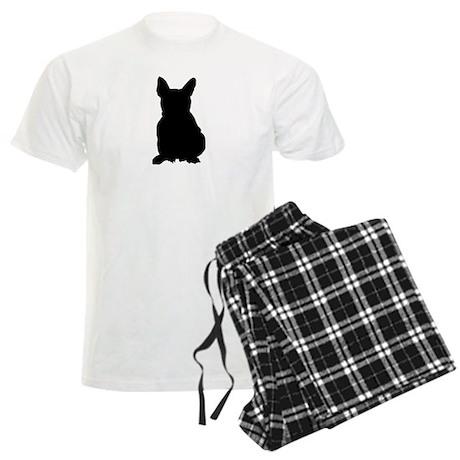 French Bulldog Silhouette Men's Light Pajamas
