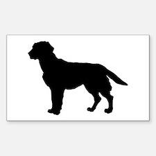Labrador Retriever Silhouette Sticker (Rectangle)