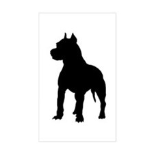 Pit Bull Terrier Silhouette Decal