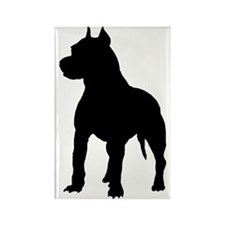 Pit Bull Terrier Silhouette Rectangle Magnet