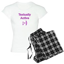 Textually Active Pink Pajamas