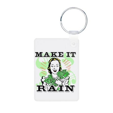 Make It Rain Aluminum Photo Keychain