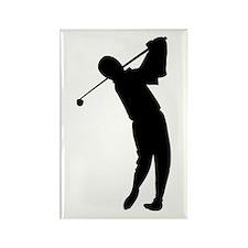 Golfing Silhouette Rectangle Magnet