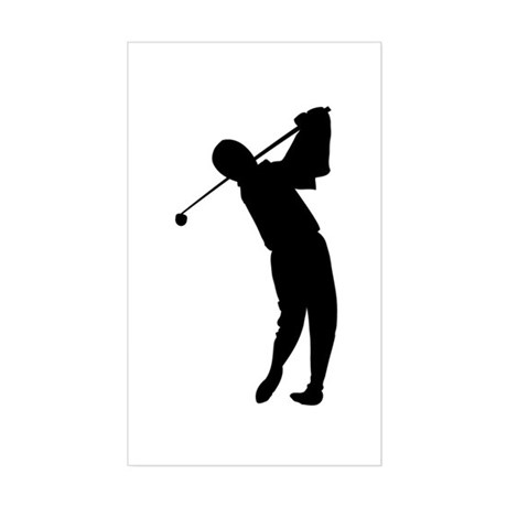 Golf Silhouette Sticker (Rectangle)