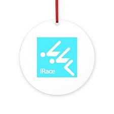Competitive Swimming iRace Silhouette Ornament (Ro