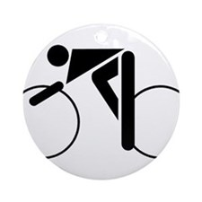 Cycling Silhouette 2 Ornament (Round)