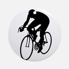 Cycling Silhouette Ornament (Round)