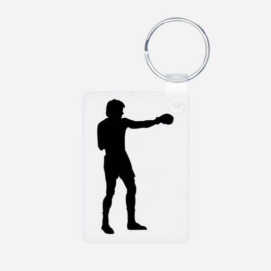 Boxing Punch Silhouette Keychains