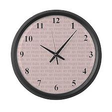 My Sweet Baby Large Wall Clock