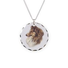 Vintage Sable Collie Necklace