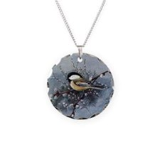 Chickadee Necklace Circle Charm
