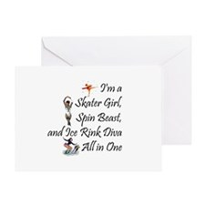 TOP Ice Rink Diva Greeting Card