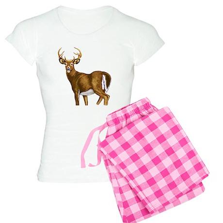 American White Tail Deer Buck Women's Light Pajama
