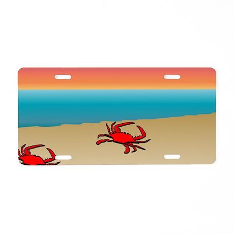 Crabs 1 Aluminum License Plate