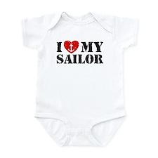 I Love My Sailor Infant Bodysuit