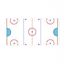 Hockey 1 Aluminum License Plate
