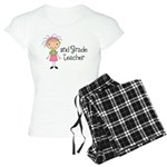 Teacher Present 2nd Grade Women's Light Pajamas