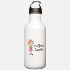 Teacher Present 2nd Grade Water Bottle