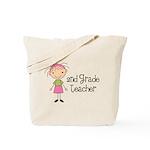 Teacher Present 2nd Grade Tote Bag