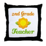 Cute Second Grade Teacher Throw Pillow