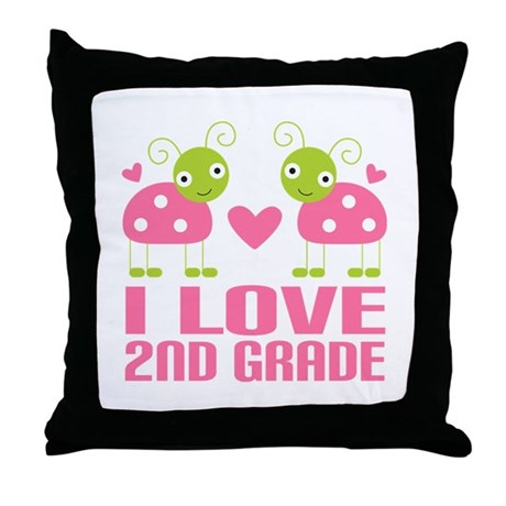 2nd Grade Throw Pillow